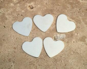 Nickel Heart Blanks - 20-Guage Stamping Blanks - Jewelry Making Blanks - Tumbled Blanks - Deburred Nickel Heart Blanks - Nickel Shapes