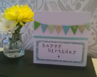 Homemade Card- Bunting