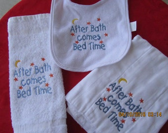 AFTER BATH Comes BEDTIME Set  (Free shipping on this item)