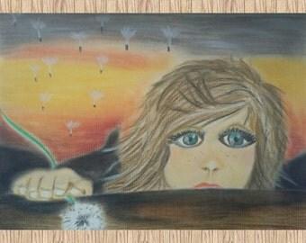 Sad Girl (pastel drawing)