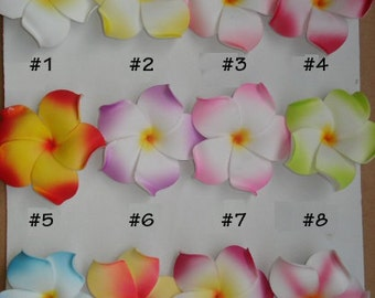Plumeria Foam Floating Flowers - Craft Flowers - Color Fast - Centerpieces - Crafts - Lots of Colors