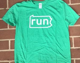 RunPA Heather Green T-Shirt