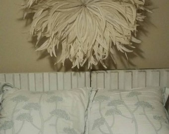 Champagne colored juju hat style wall decoration