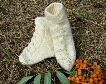 knitted baby socks milky white socks gift for children sheep wool socks kids knit socks openwork pattern warm soft socks handmade wool socks