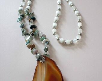 Quarry Bedrock Stone Necklace