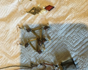 Mixed Metal jewelry set with 2 sets of earrings