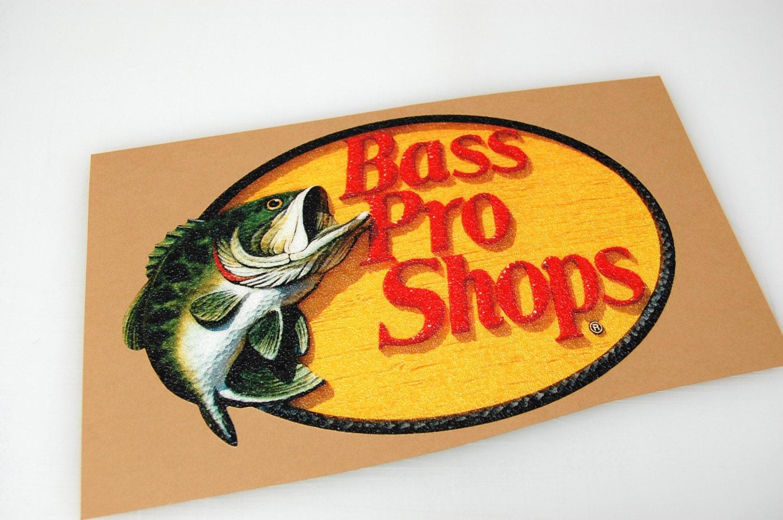Bass Pro Shop Bass Boat Carpet Graphic Decal Logo