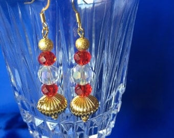 Red and Gold Earrings 1