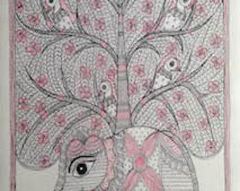 Madhubani Painting - Celebrating Life