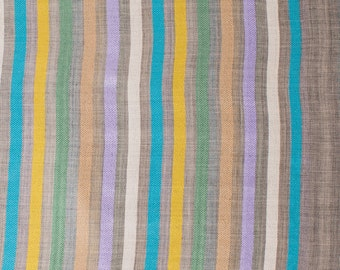 Chesil Wool & Silk Stripe Scarf, Woollen, Striped, Quality, Trendy, Trending, Fashion, Colourful, Multi Coloured, Soft, C379