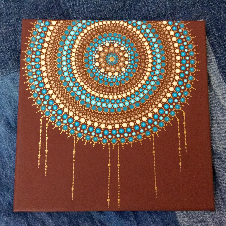 Mandala Dot Painting  Piece Canvas
