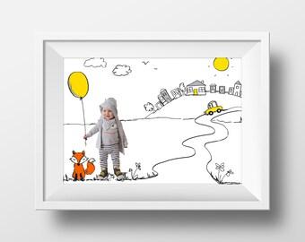 Children's Custom Artwork - Digital Print - Shipped Worldwide