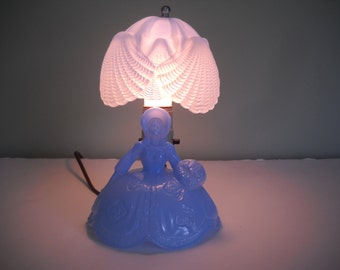 Blue Depression Glass Lamp  Southern Belle Lamp