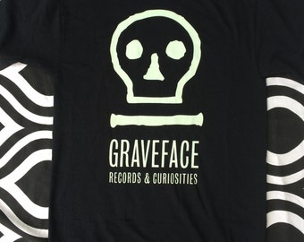 Graveface Records glow in the dark logo t-shirt