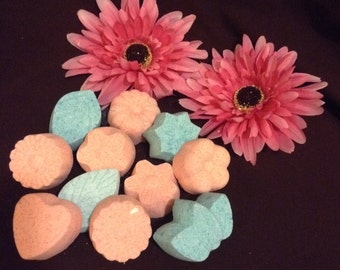 5 mini bath bombs