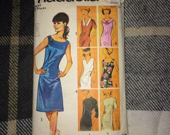 Vintage 1960s 7-in-1 Dress Sewing Patterns Shift Dresses