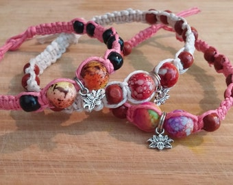 Hemp Anklets with Cosmic like beads