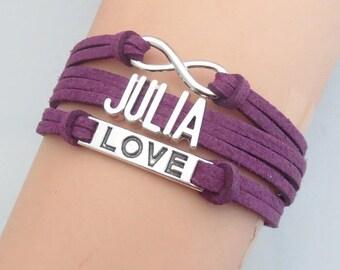 custom bracelet, name bracelet, leather bracelet, layer bracelet, rope bracelet, wrap bracelet