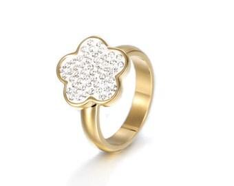 Flower Stainless steel Ring