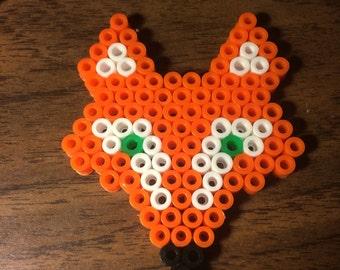 Fox Perler Bead Magnet