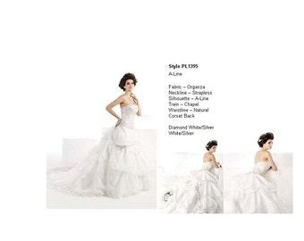 Royal Wedding Gown - White/Silver