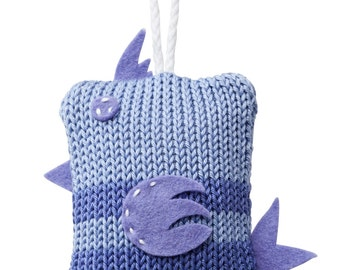 Hand Made Knitted Tiny Birdy Toy - Lilac