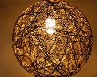 Luminaire planet 32 cm in diameter, novelty in Brown and beige color.