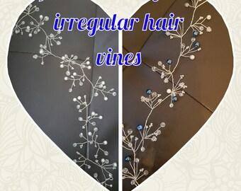 pearl and crystal hair vine / twine / bridal vine/ pretty hair vine/ pearl and crystal bridal hair vine