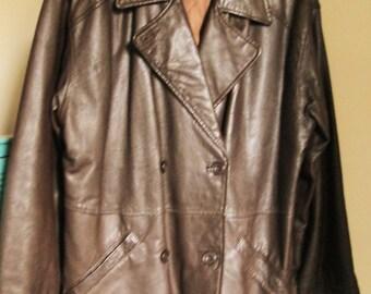 SALE!! 20% OFF!!! Vintage leather Coat, 1990's leather, Next coats, winter clothing, winter coats, women's coats, vintage coats
