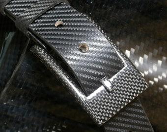 Carbon - leather belt buckle leather belt