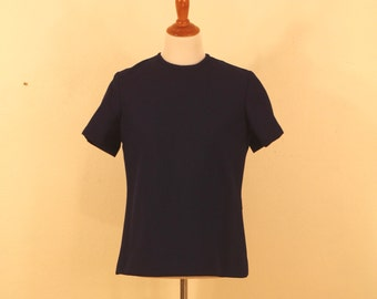 1960s Navy Roberta Lee Zip-Up Shirt