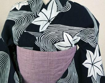 second hand yukata, casual Japanese kimono cotton