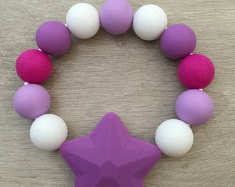 Star Silicone Teething Rings