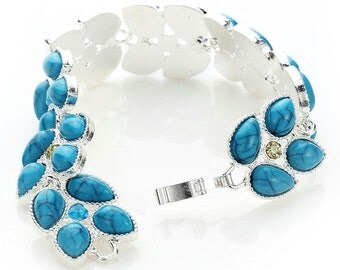 Dreamy Leaves Turquoise Bracelet