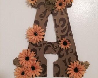 Customized Letter - Earthy Sunflower