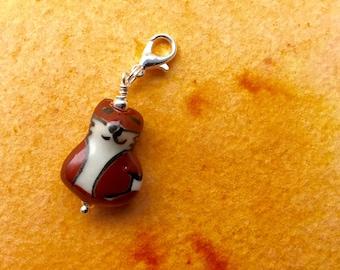 Fox Charm Zipper Pull Pendant