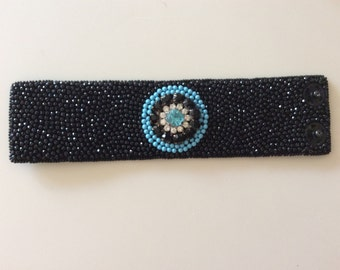 Bead embroidery bracelet