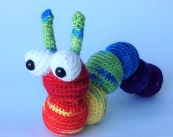 Crocheted animal Ben the Caterpillar