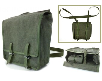 Military bag, Linen bag, Vintage Bag, messenger bag