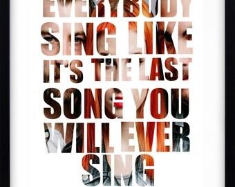 Paramore inspired lyric art