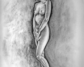 Nude drawing. Original