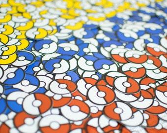 Pokemon Poke Ball Stickers (Set of 6)