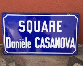 Old French Street Enameled Sign Plaque - vintage casanova 2