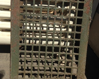 Vintage Metal Wall Heating Vent Grate, Architectural Salvage, Vent Cover