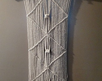 "Macrame wall hanging ""Live and Let Live"""