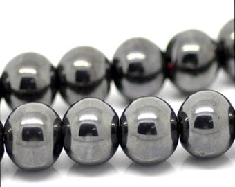 """10 Hematite beads """"sphere"""" - 10 mm / K1 - 0692"""