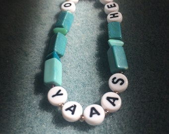 Yaaas // Hell No Turquoise Friendship Bracelet ©