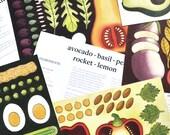 Recipe cards - set of 5 A5