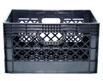 Milk Crates Heavy Duty Black Plastic *cleaned* FREE SHIPPING!