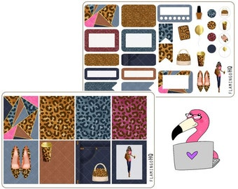 It's a Jungle Out There - Weekly Mini Kit Planner Stickers